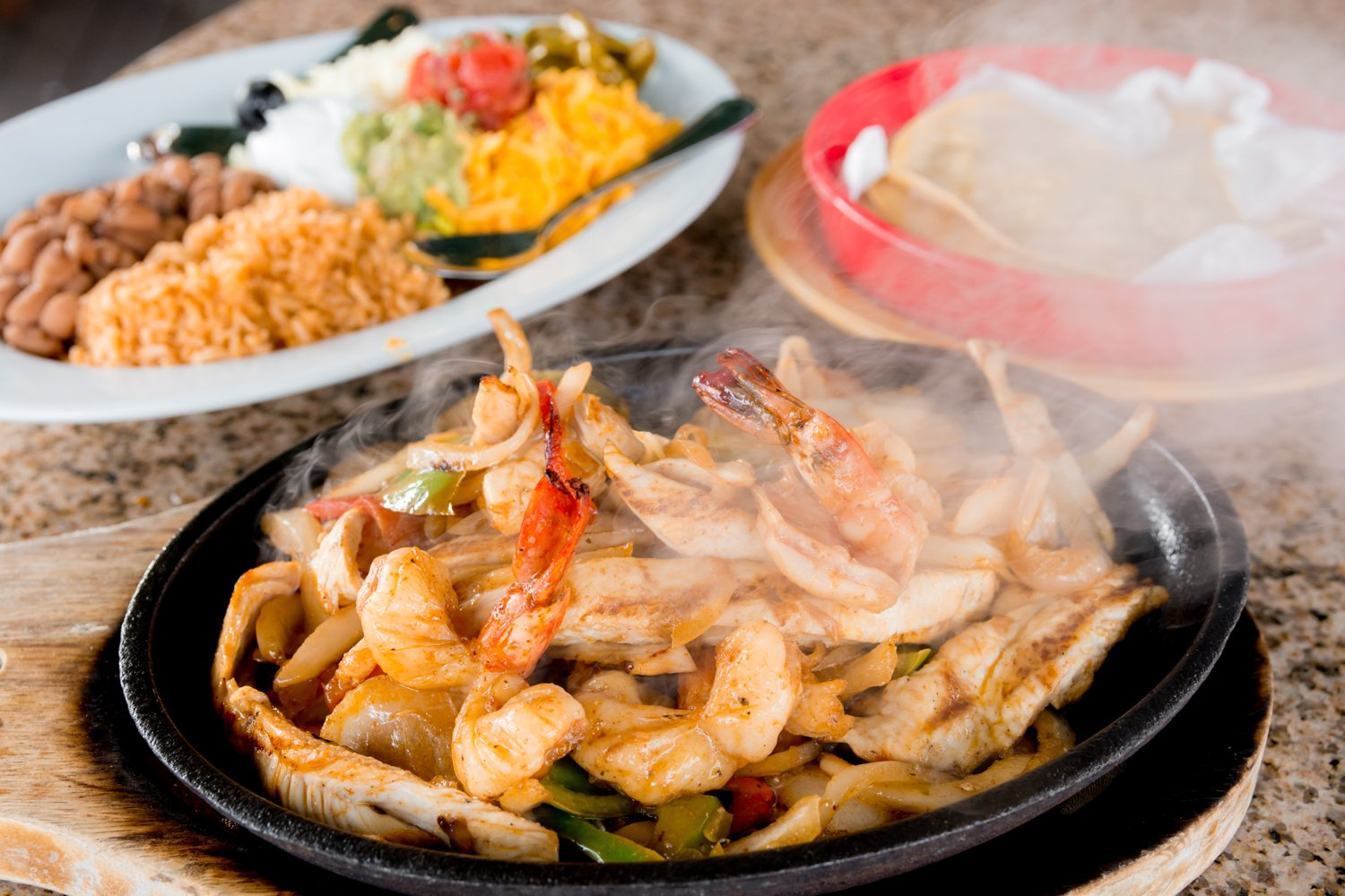 Red Hen Bar and Grill Famous Red Hen Shrimp Fajitas