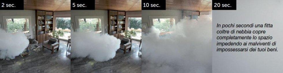 sequenza nebbia antifurto