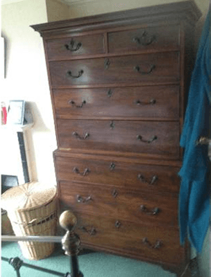 a big wooden cabinet