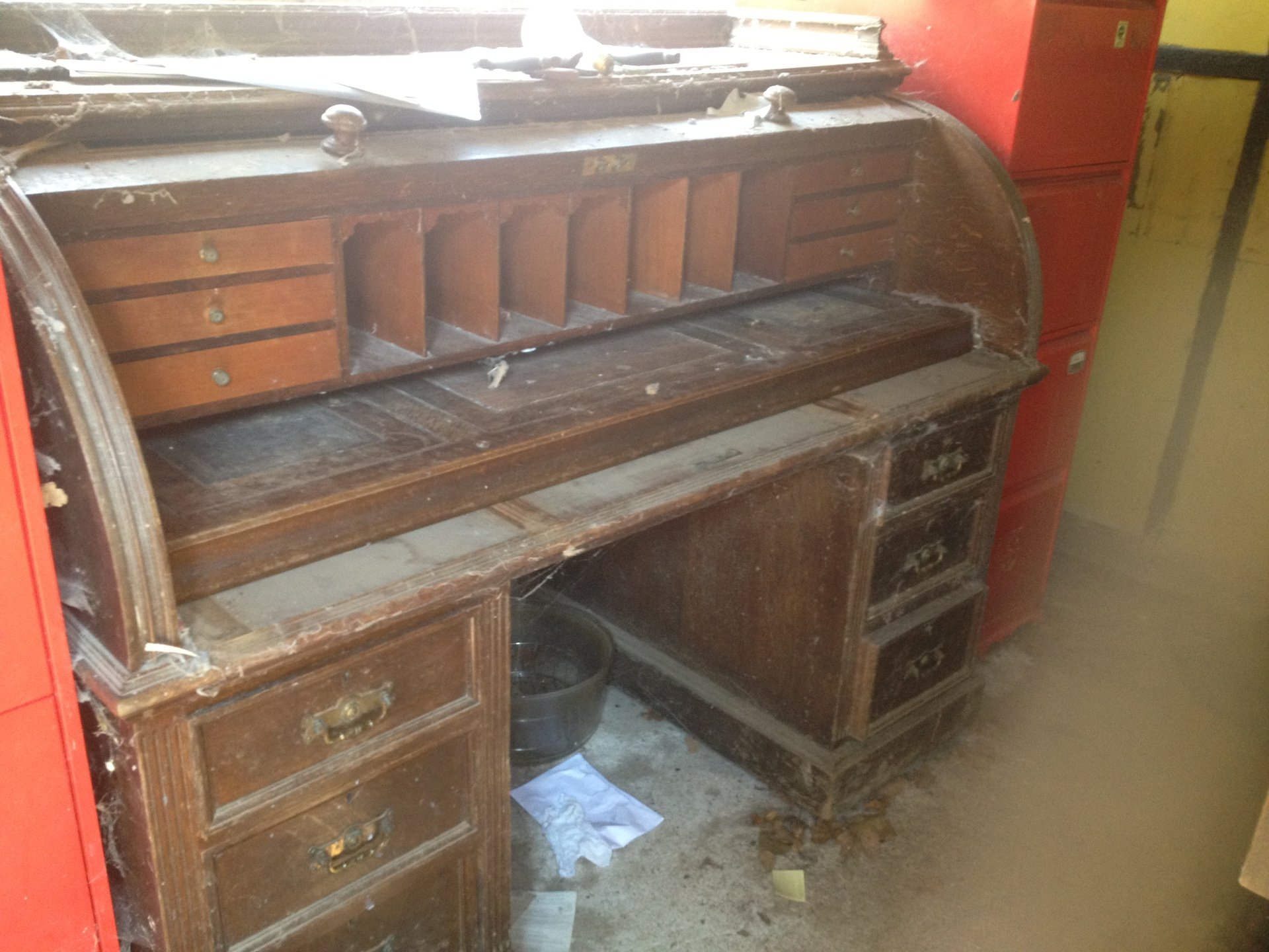 old writing table
