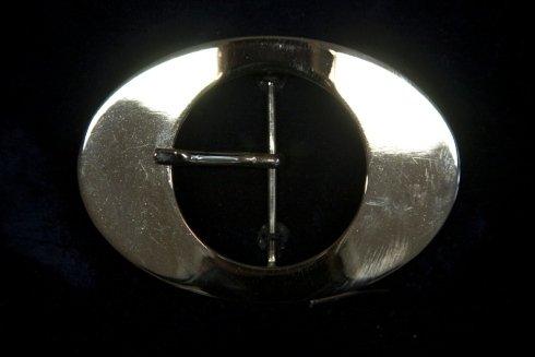 fibbia ovale metallo
