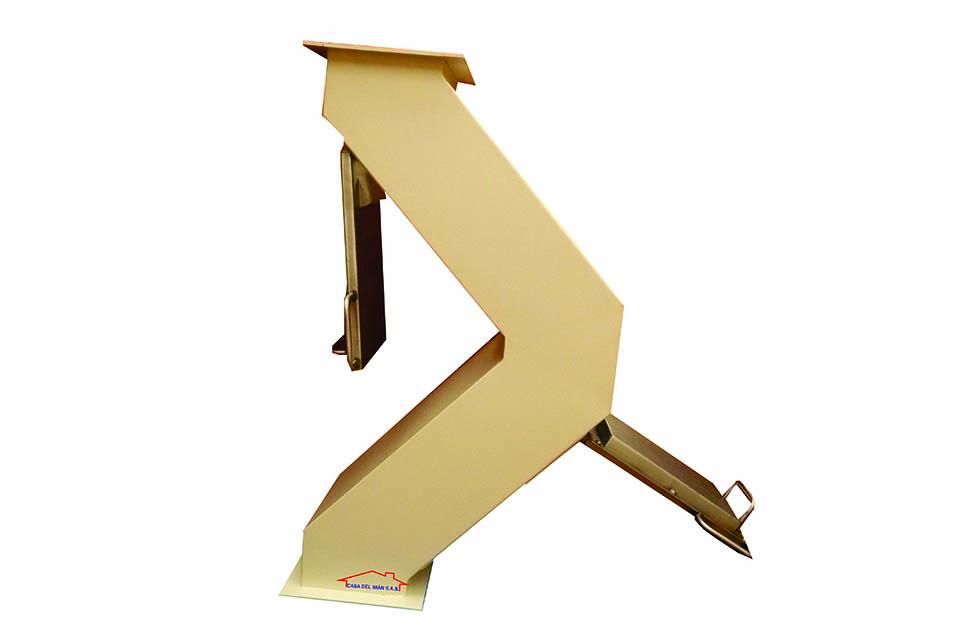 Casa del Iman - codo con placas magnéticas para flujo de caida libre