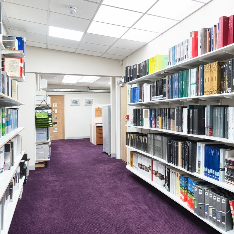 carpet fitted in library