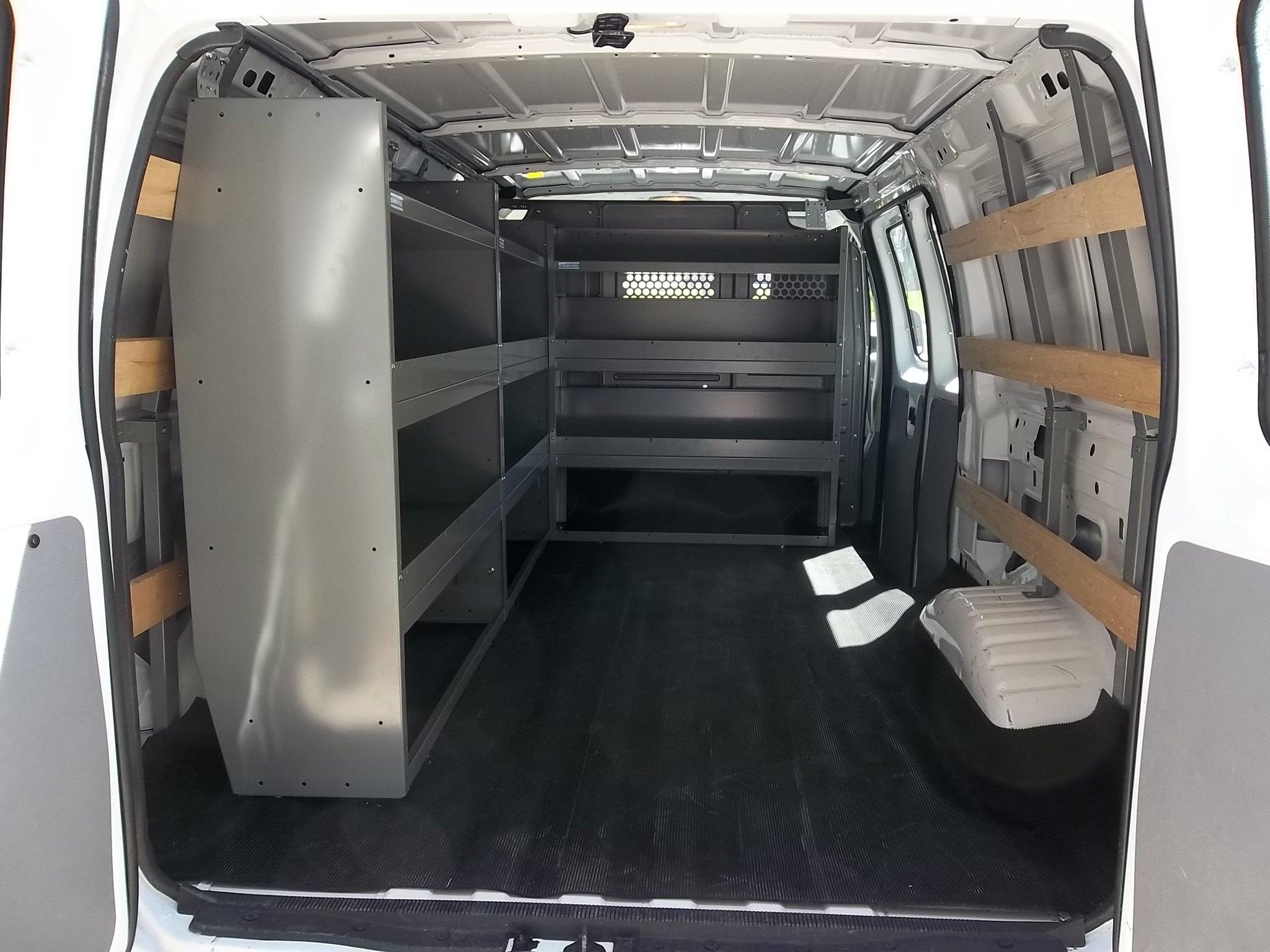 Custom truck shelving for a Ford work van