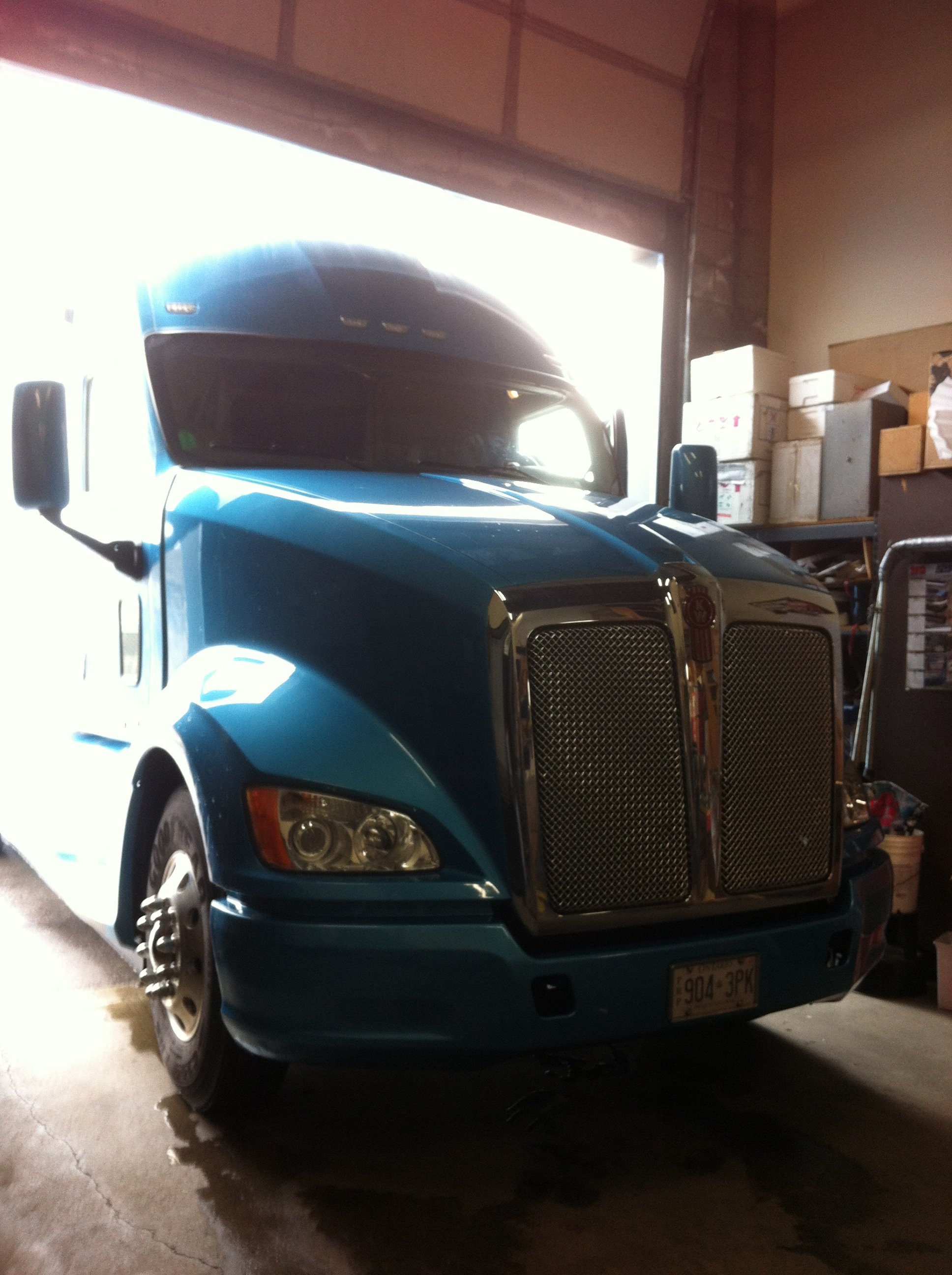 Transport truck glass