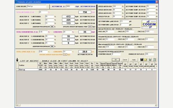 Flowmeter set point calculation