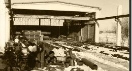 foto d'epoca di capannone