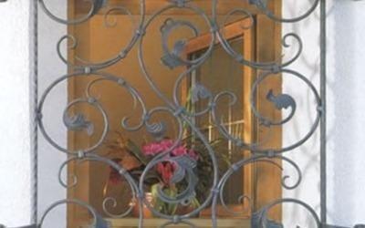 ringhiera decoro floreale