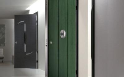 portone blindato verde