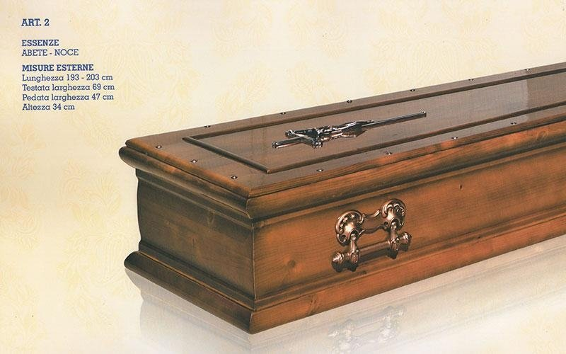 cofano funebre abete noce 2