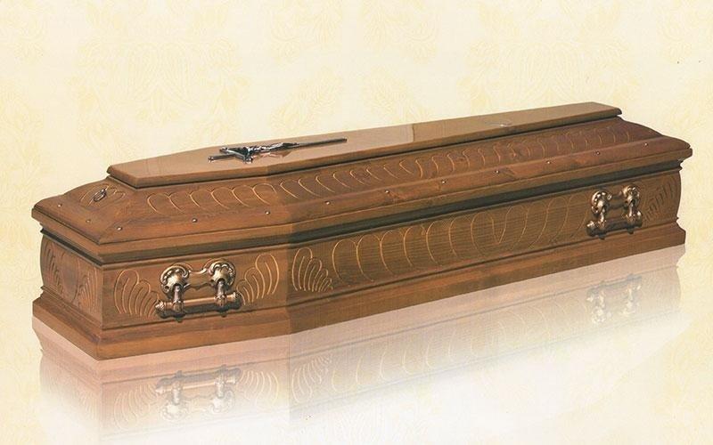 cofano funebre legni misti modello 9