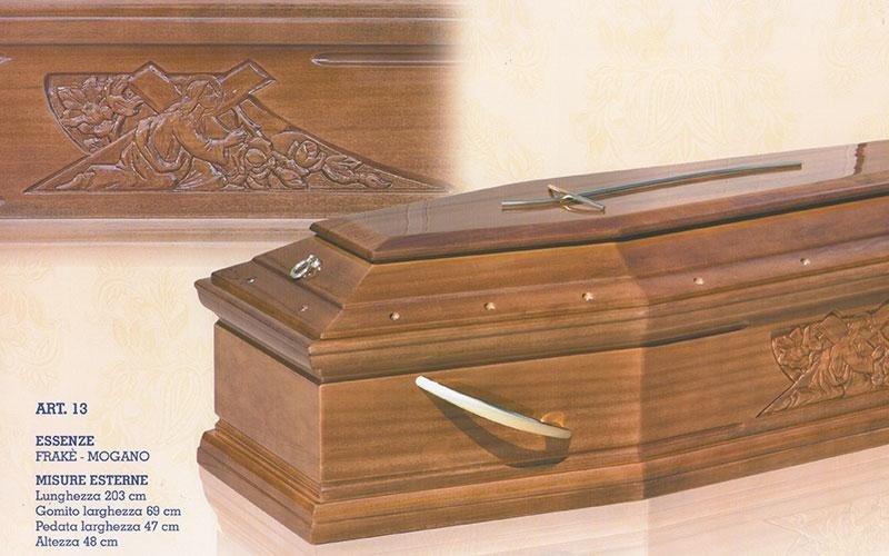 cofano funebre Frakè mogano 13