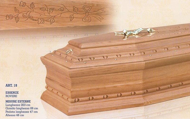 cofano funebre rovere 18