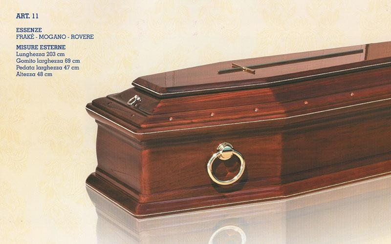 cofano funebre Frakè mogano rovere 11