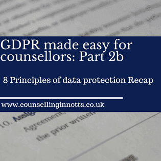 GDPR Made Easy For Counsellors Part2b