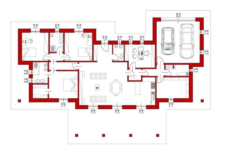 villa classica planimetria