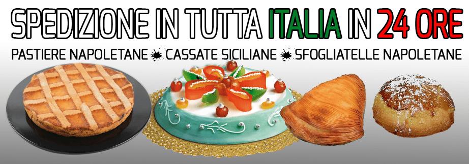 spedizioni in tutta italia cassate, pastiere e sfogliatelle