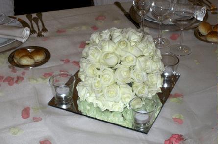 Decorazioni sferiche con rose