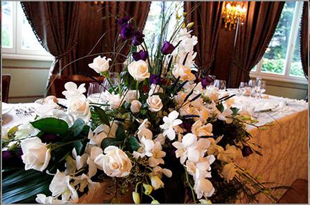 Composizioni per tavolo degli sposi