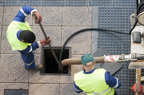 Sewer and drain cleaning in progress in Lincoln, NE