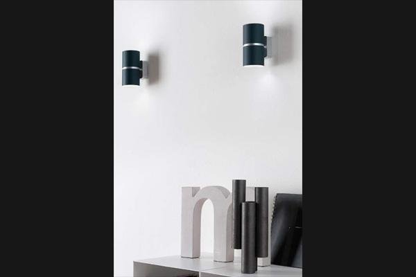 lampada da parete doppia