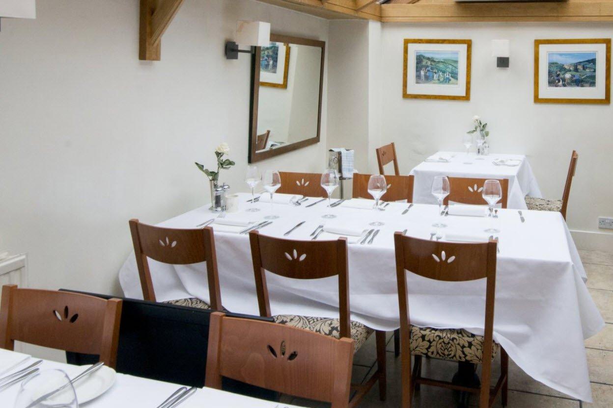 Ruchetta Italian Restaurant dining tables