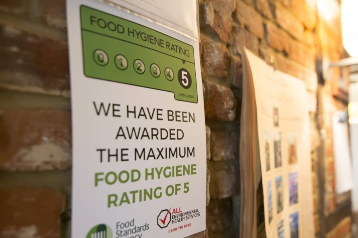 Food Hygiene Rating of 5 Certificate