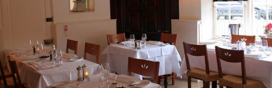 Inside Ruchetta Italian Restaurant in Wokingham