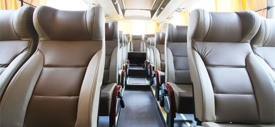 luxury coach hire from Total Travel Company
