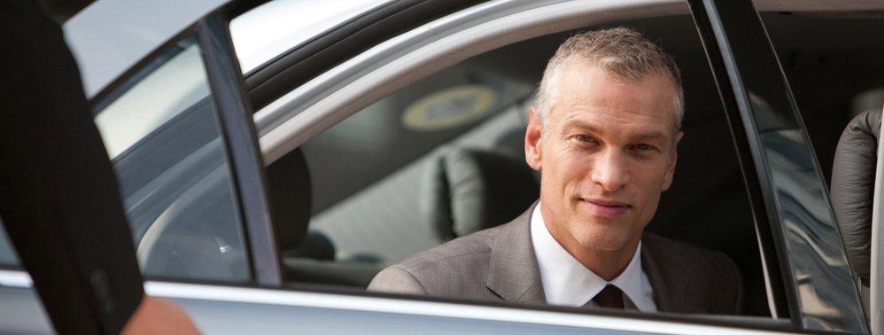 man using limousine