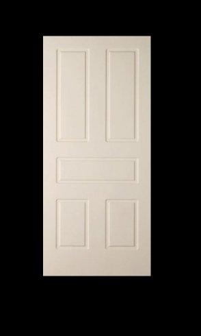 una porta in legno bianca