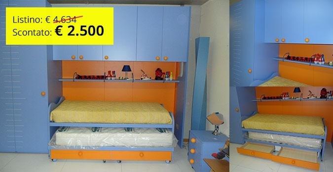 Cameretta Arancione E Blu : Camere per ragazzi perugia pietrafitta mobili marchesini