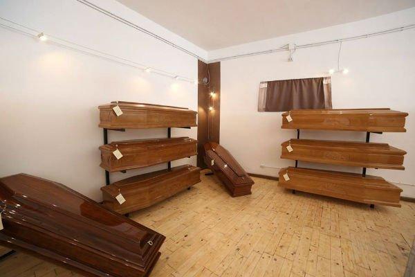 delle bare di legno