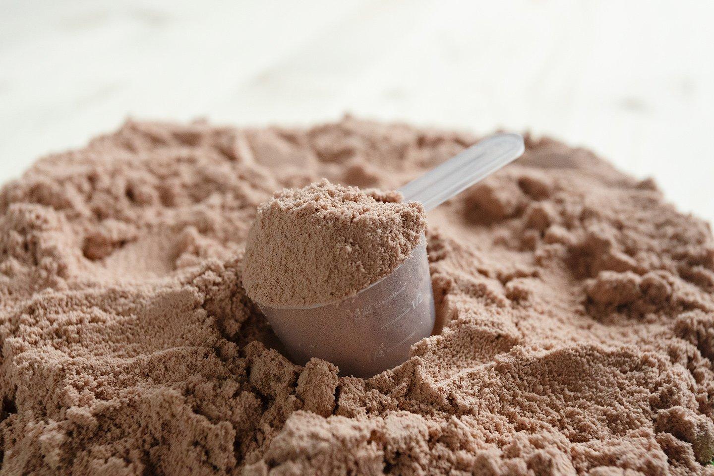 cucchiaio di proteine liofilizzate