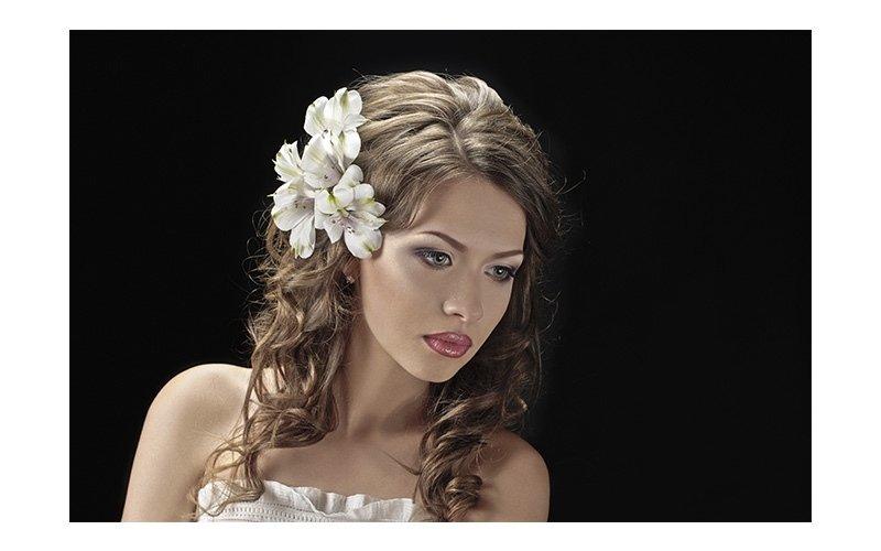 Sposa con fiore