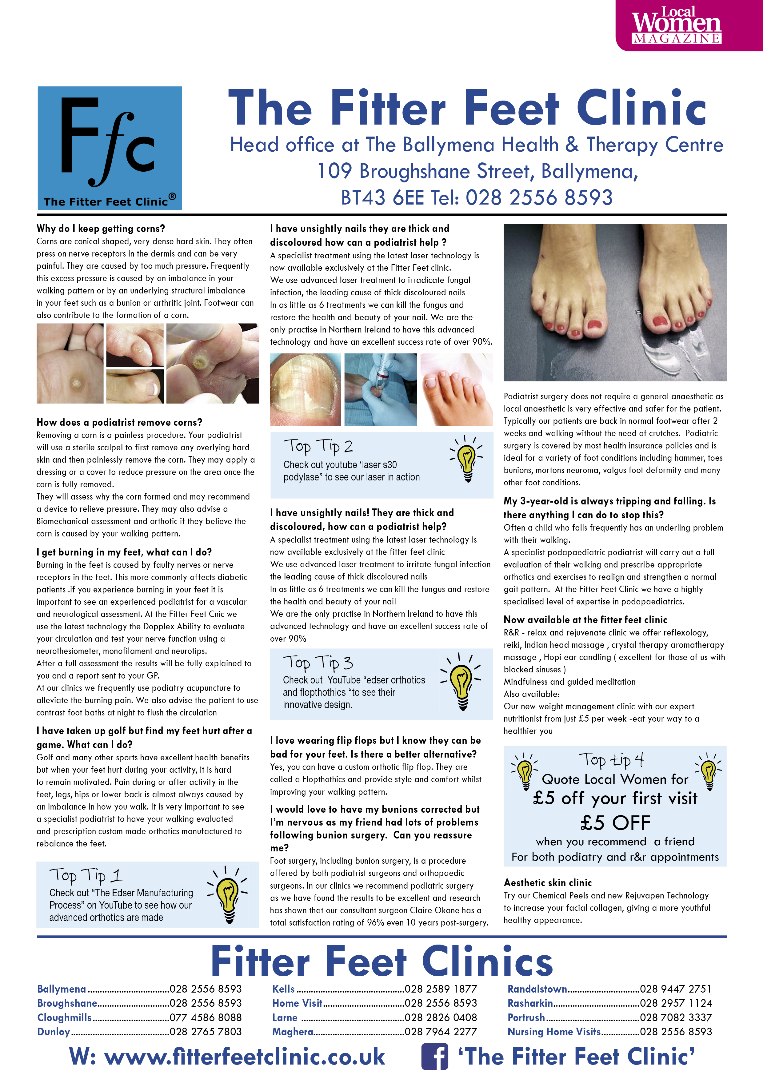 Professional chiropodist, Northern Ireland - Fitter Feet Clinic