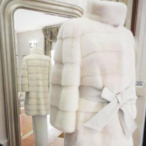 PELLICCIA VISONE BIANCO SNOW WHITE