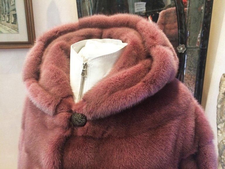 Giacca visone rosa