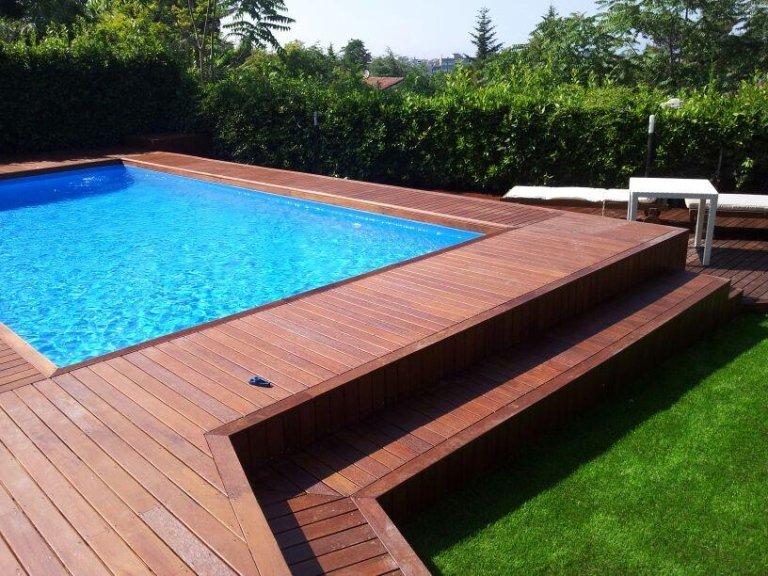 parquet piscina