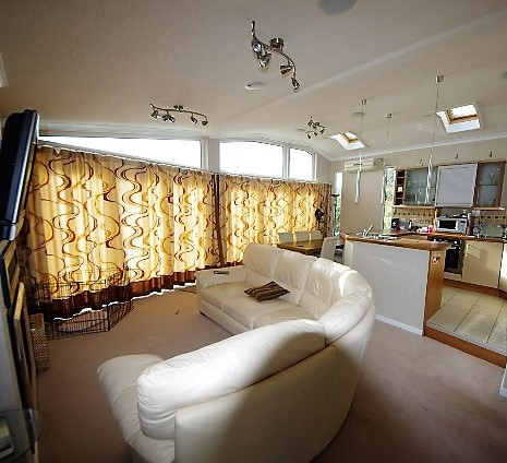 Living area of Lissett Halycon Lodge
