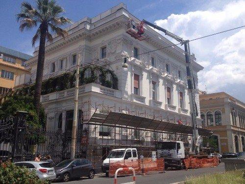 gru per ristrutturazione facciata