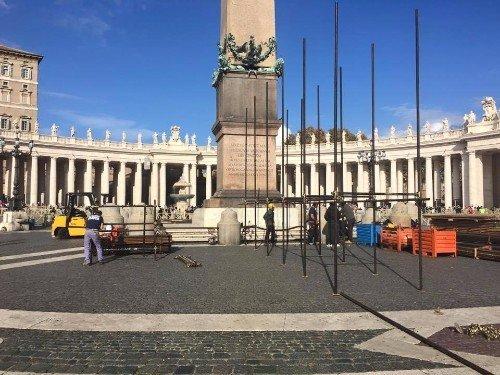 cantiere pubblico a Roma