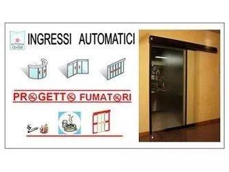 porte automatiche per area fumatori