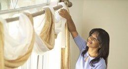 Lavorazioni con velcro, opere di alta qualità, serviziio, tende in tessuto