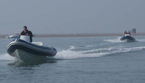 fast moving boat