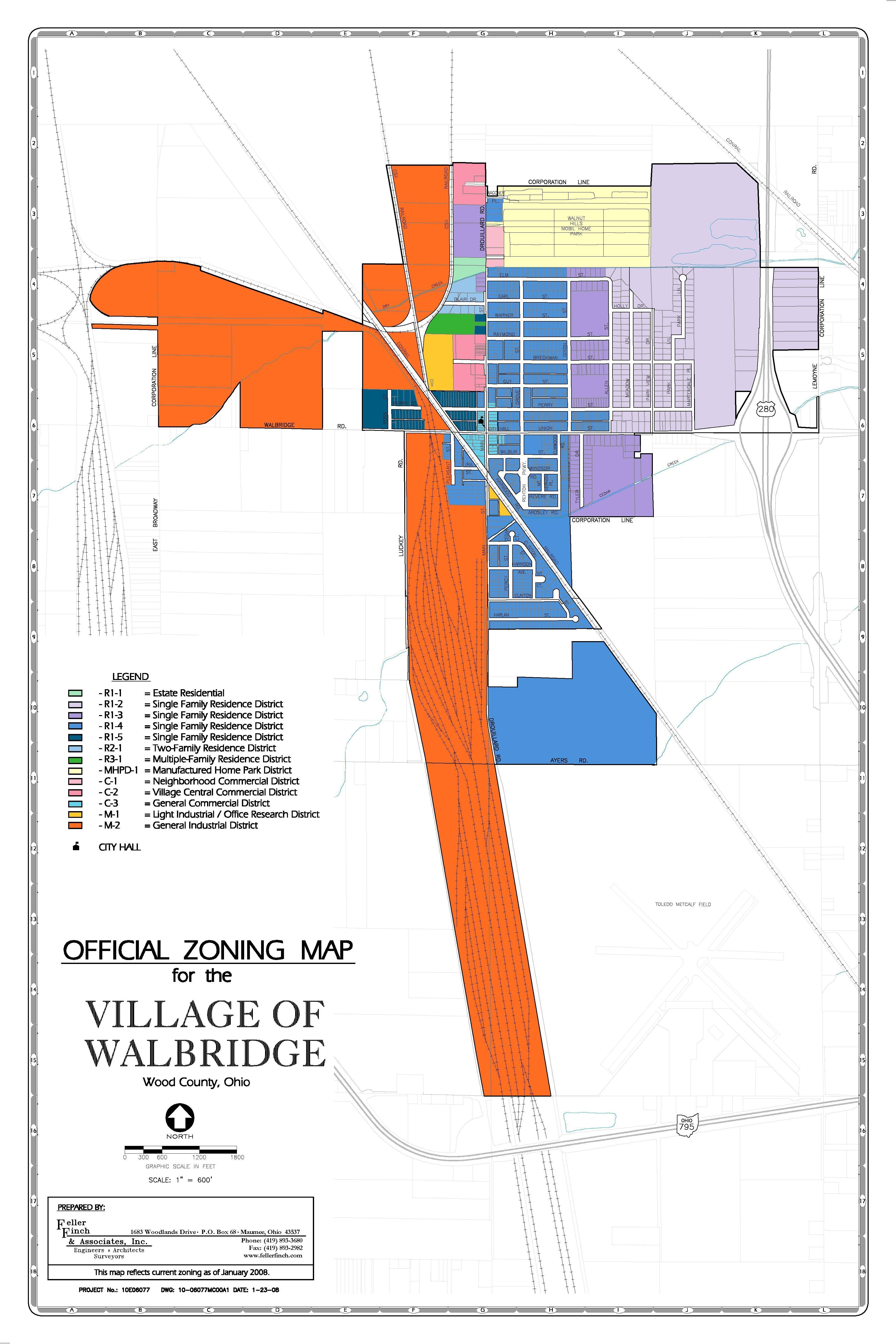 Official Zoning Map Village of Walbridge, Ohio