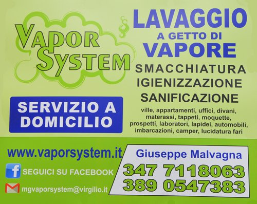 insegna pubblicitaria MG VAPOR SYSTEM