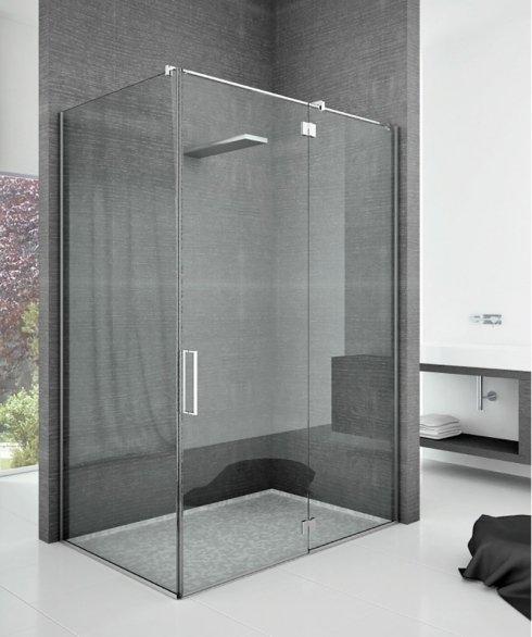 Box doccia con cerniere con alzata in apertura