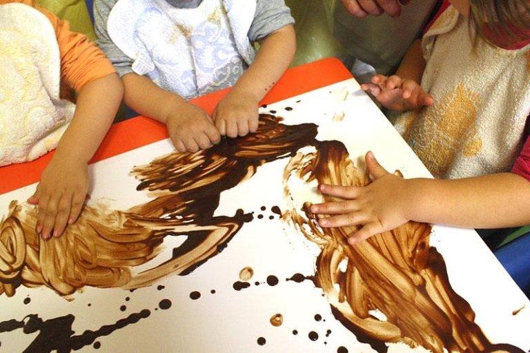 Dipinto cioccolato bambini