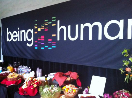 Food served at being human event